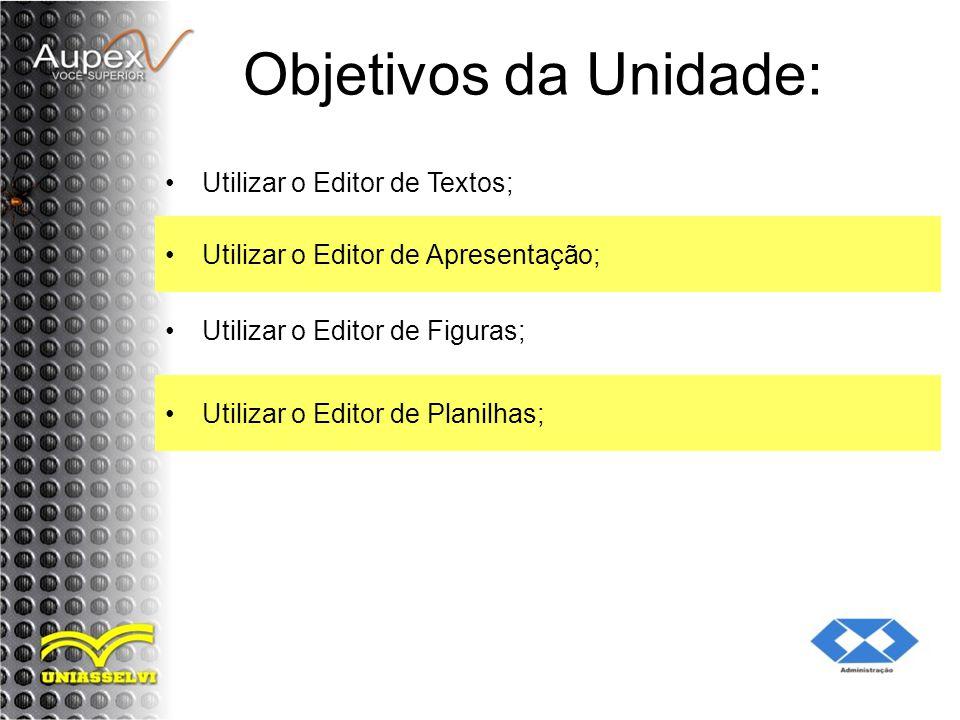 Objetivos da Unidade: Utilizar o Editor de Textos;
