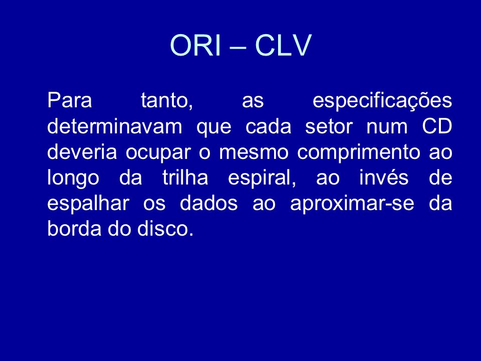 ORI – CLV