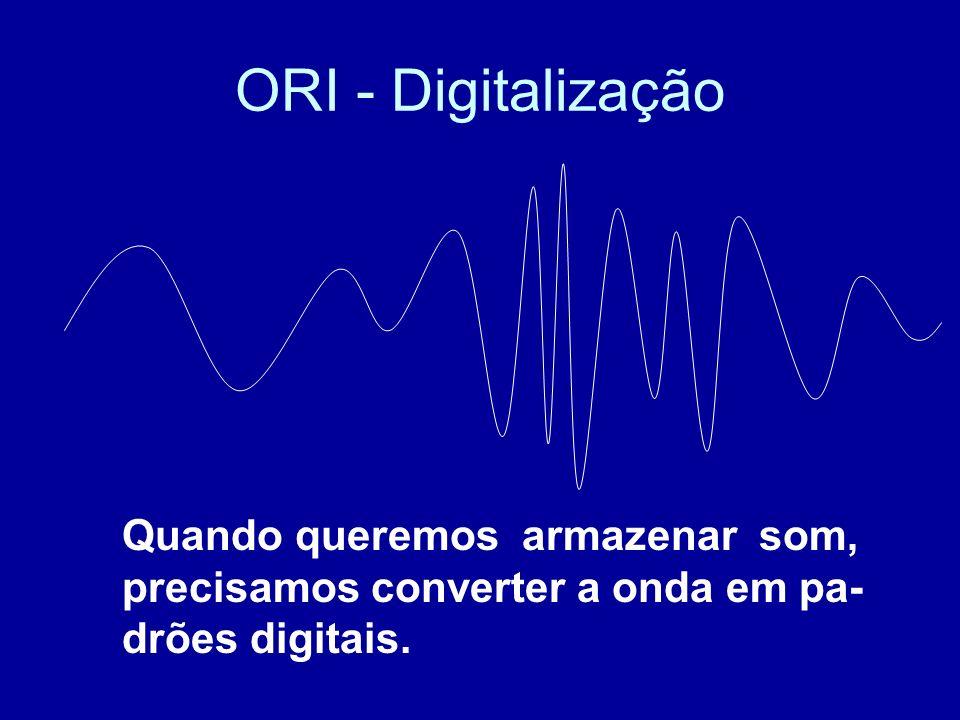 ORI - Digitalização Quando queremos armazenar som,