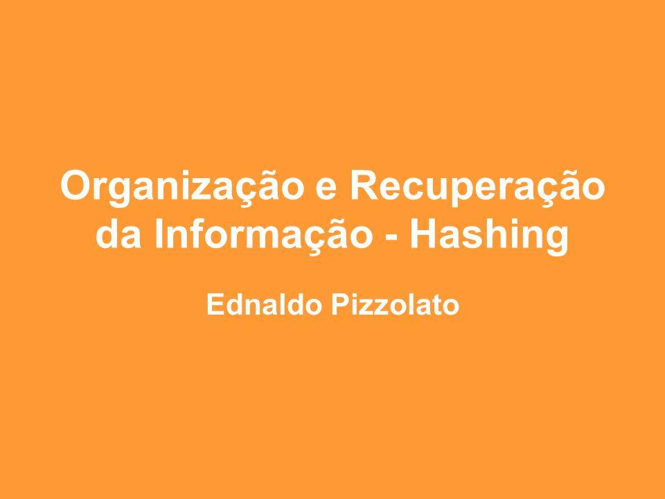 Organização e Recuperação da Informação - Hashing