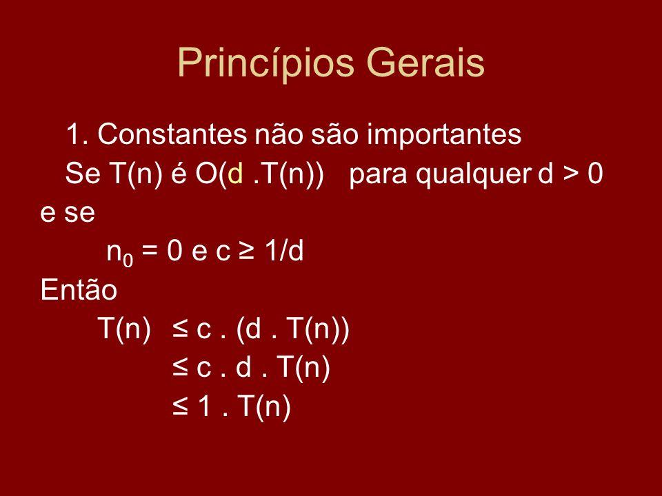 Princípios Gerais 1. Constantes não são importantes