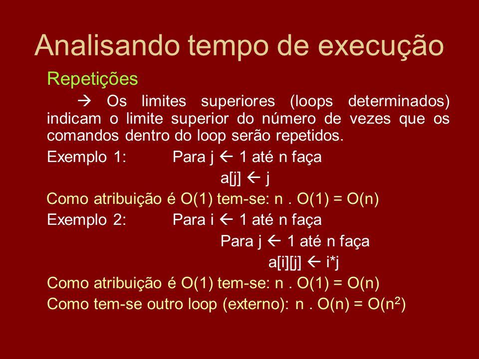 Analisando tempo de execução