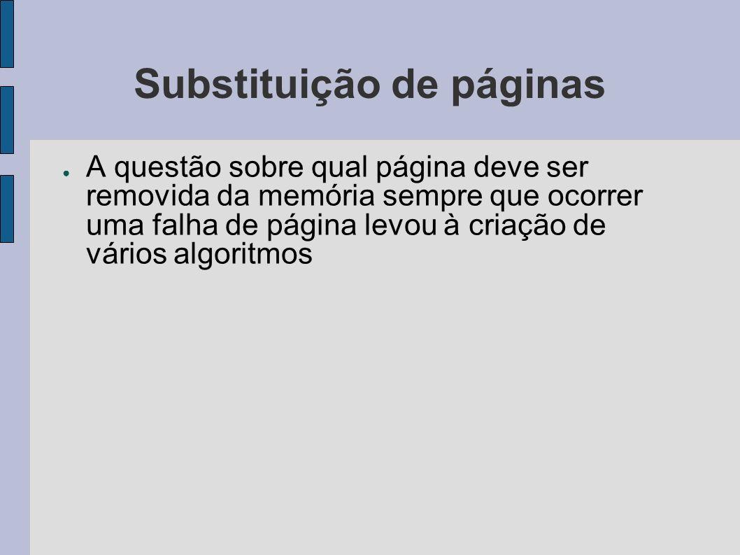 Substituição de páginas