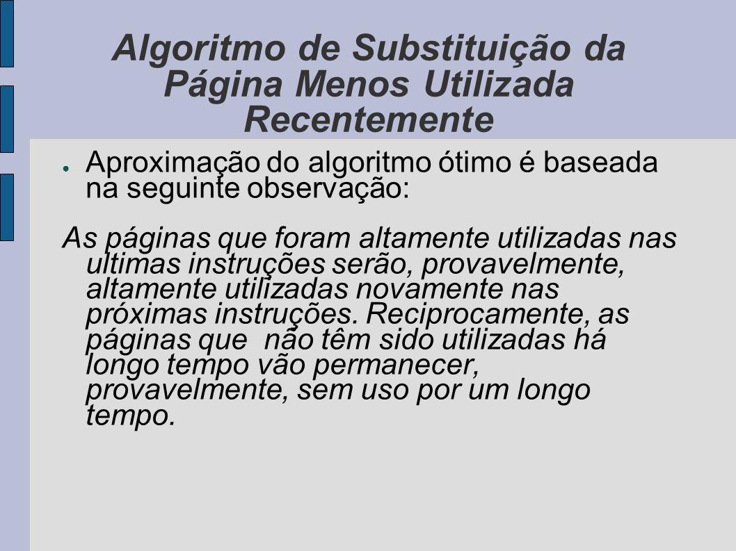 Algoritmo de Substituição da Página Menos Utilizada Recentemente