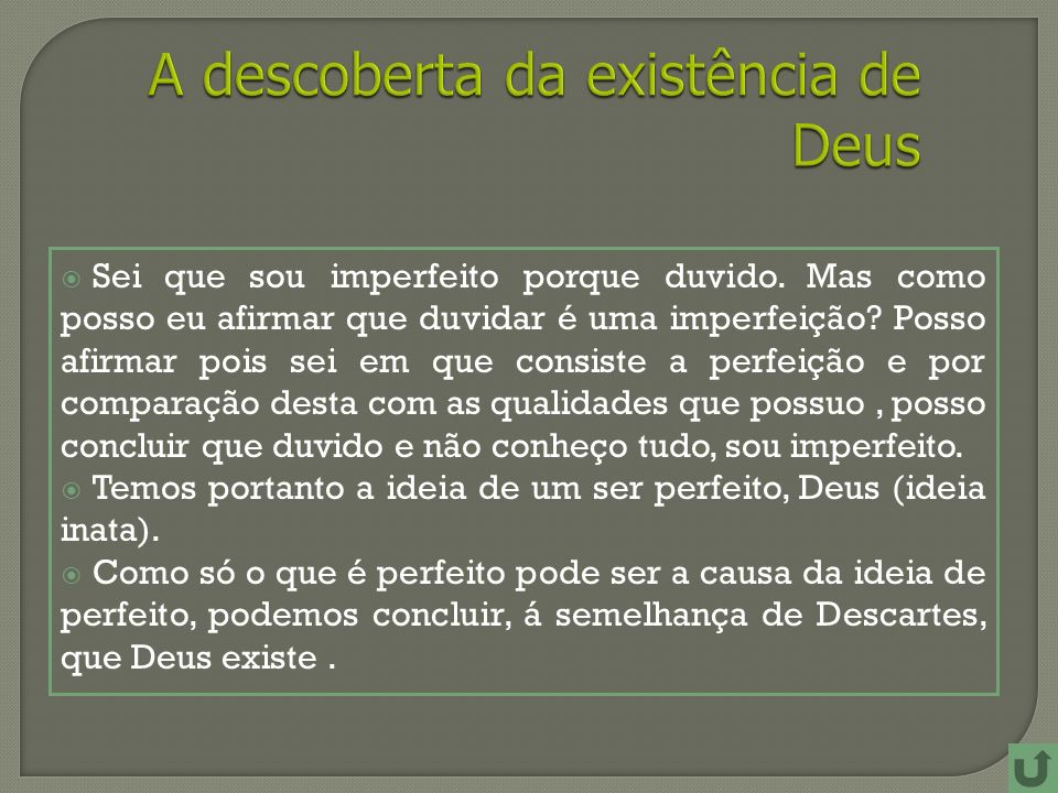 A descoberta da existência de Deus
