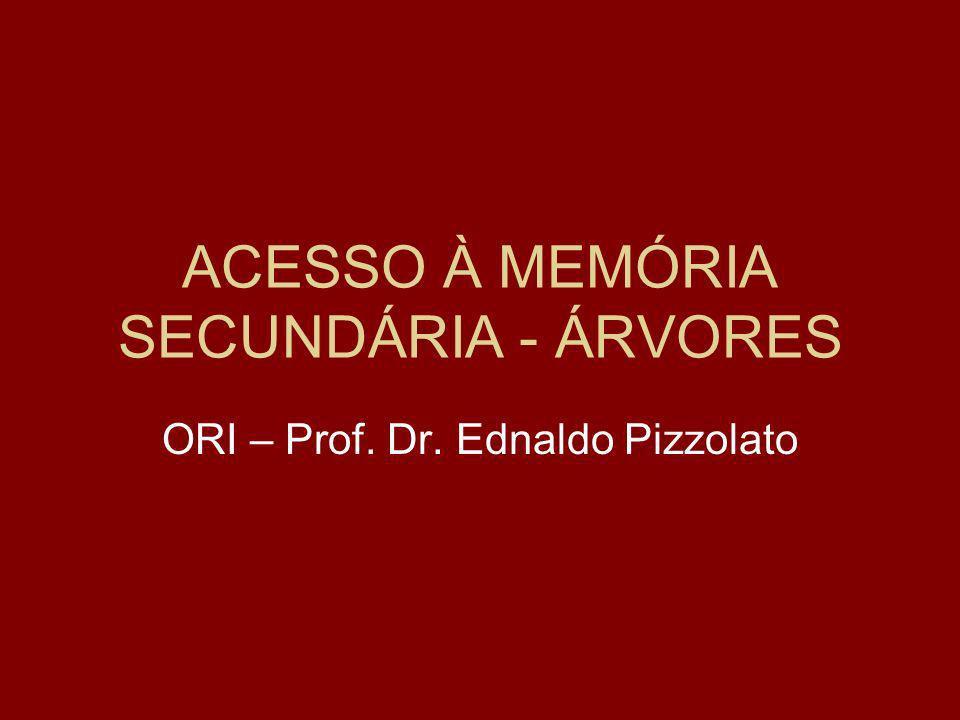 ACESSO À MEMÓRIA SECUNDÁRIA - ÁRVORES