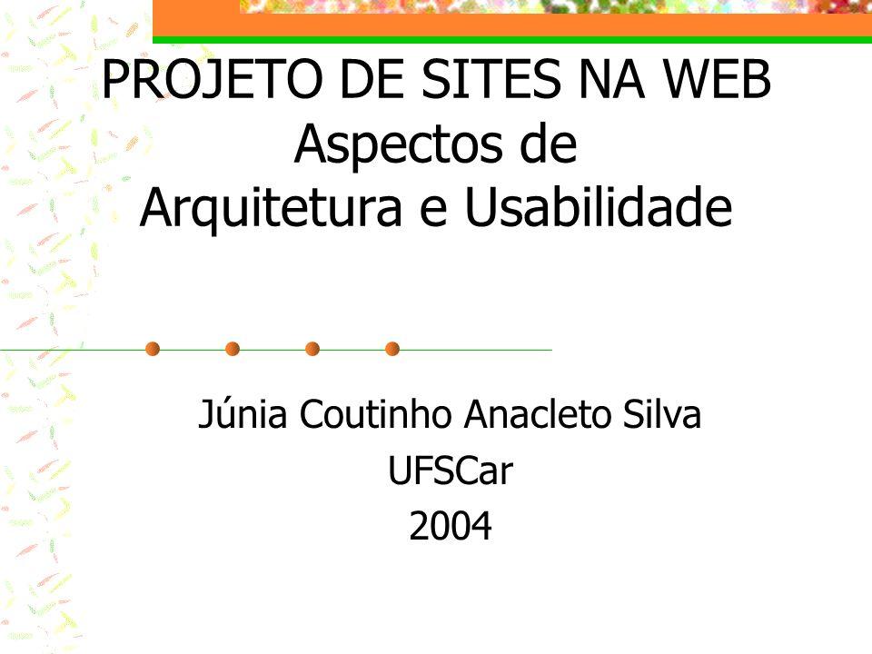 PROJETO DE SITES NA WEB Aspectos de Arquitetura e Usabilidade