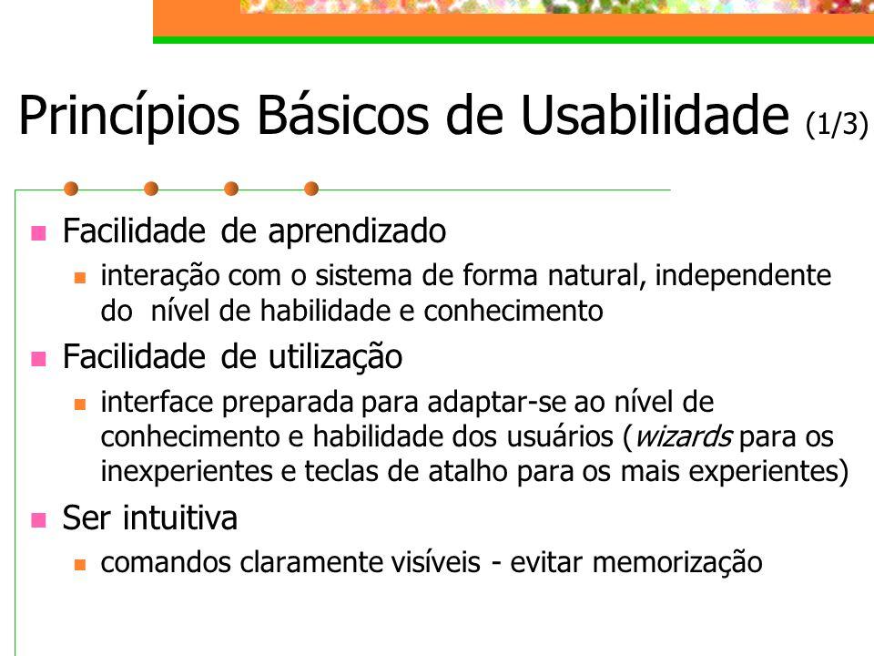 Princípios Básicos de Usabilidade (1/3)