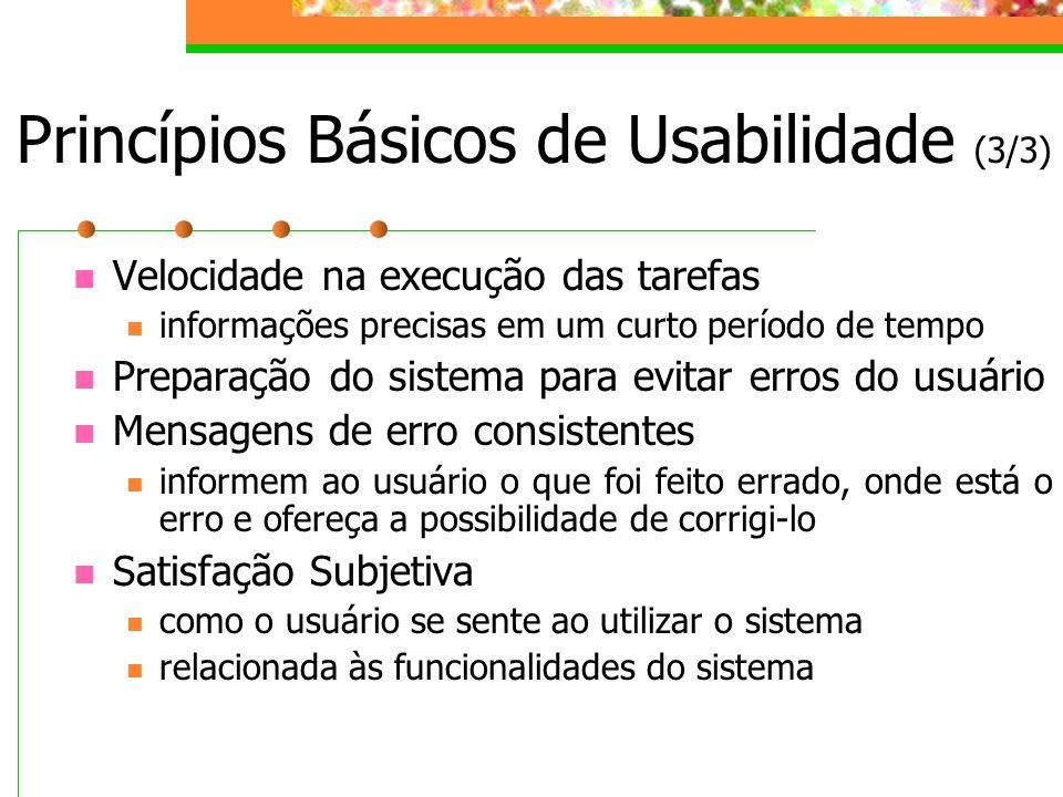 Princípios Básicos de Usabilidade (3/3)