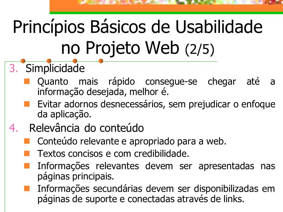 Princípios Básicos de Usabilidade no Projeto Web (2/5)