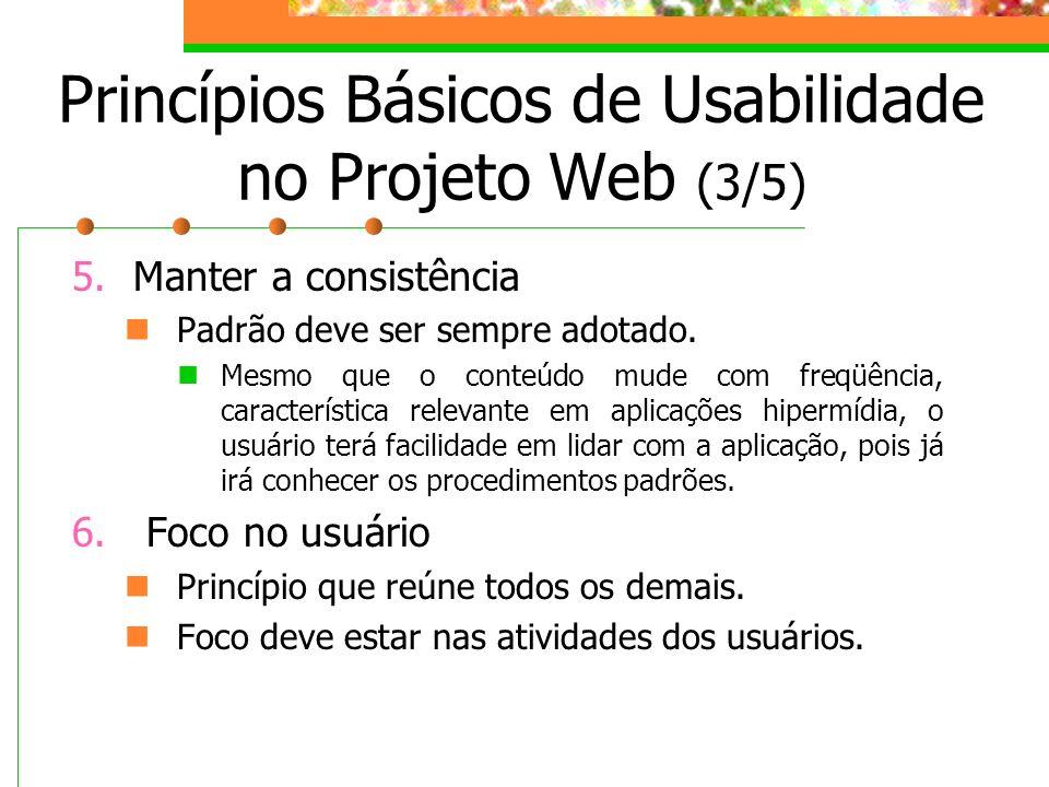Princípios Básicos de Usabilidade no Projeto Web (3/5)
