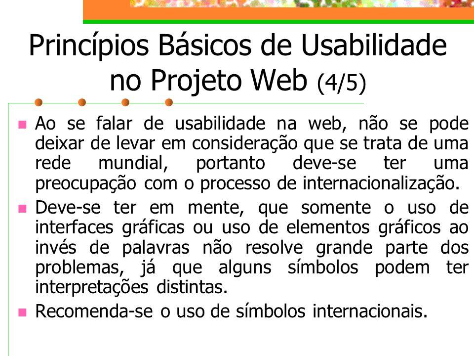 Princípios Básicos de Usabilidade no Projeto Web (4/5)