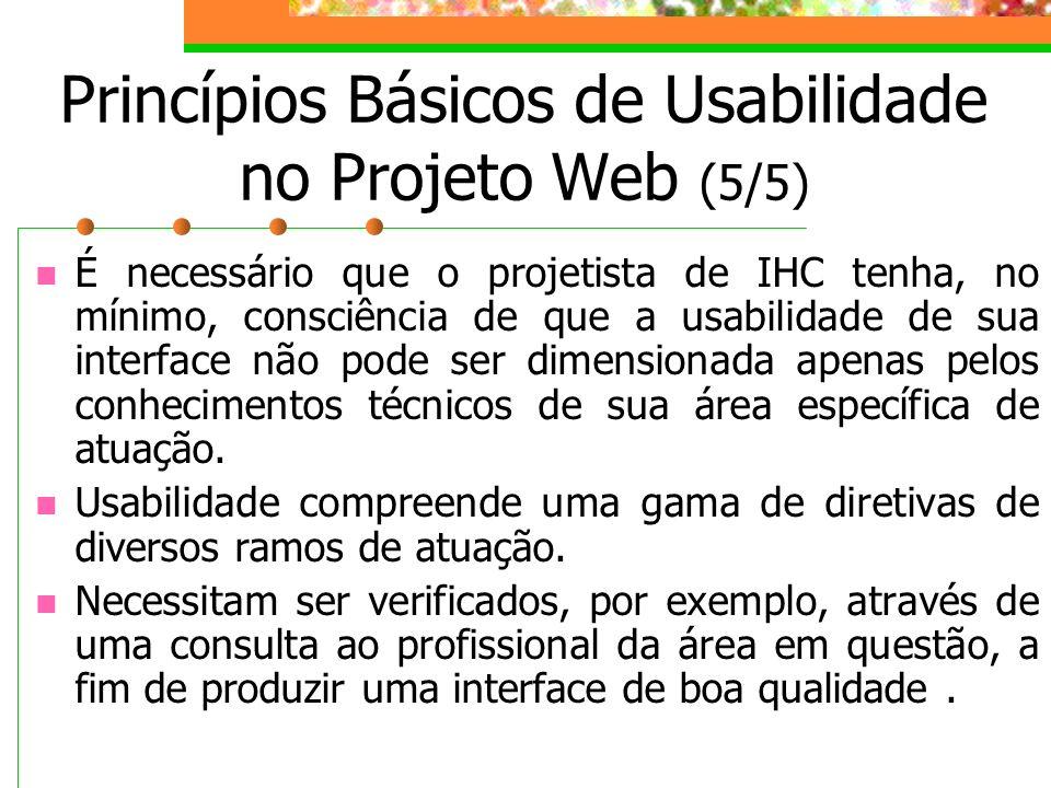Princípios Básicos de Usabilidade no Projeto Web (5/5)