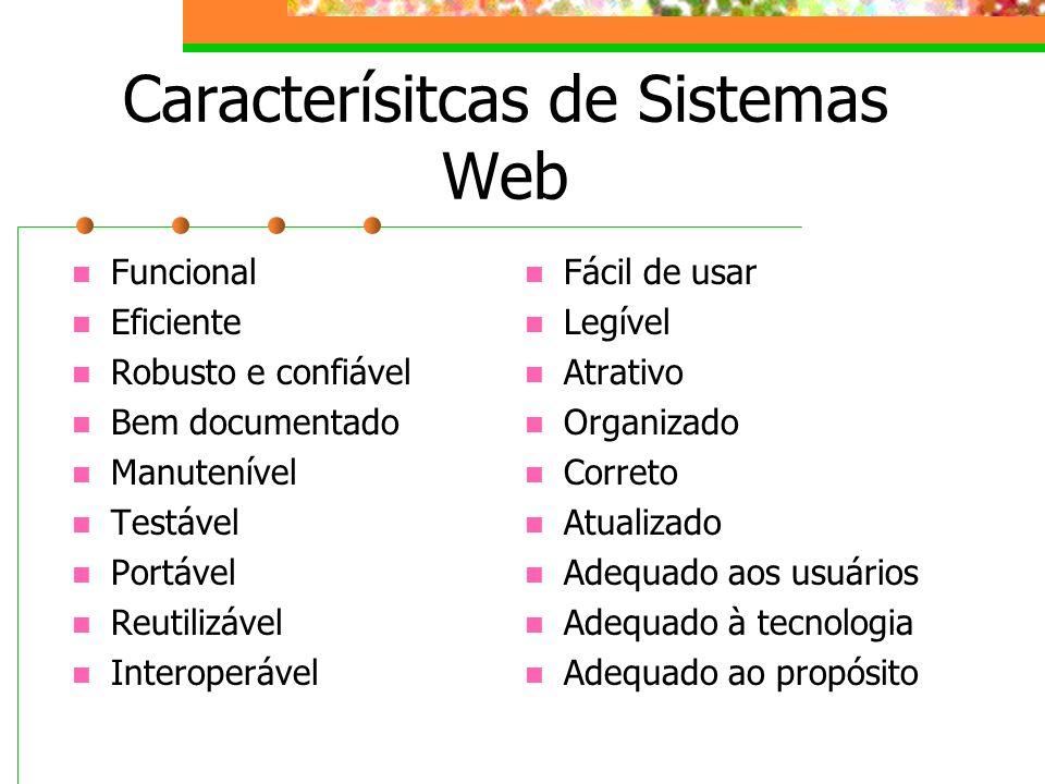 Caracterísitcas de Sistemas Web