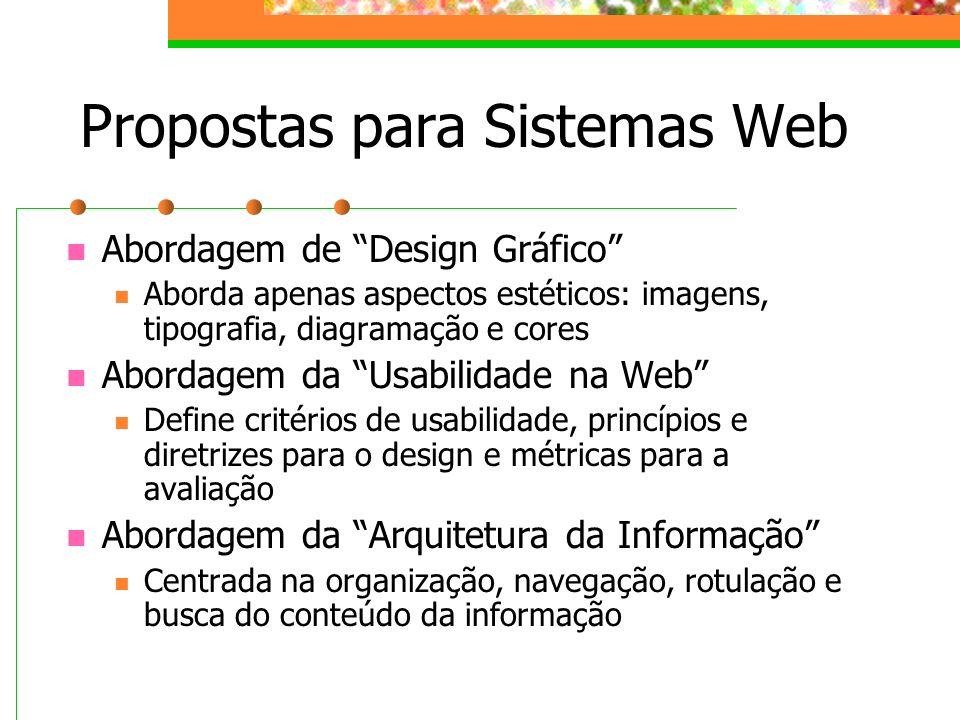 Propostas para Sistemas Web