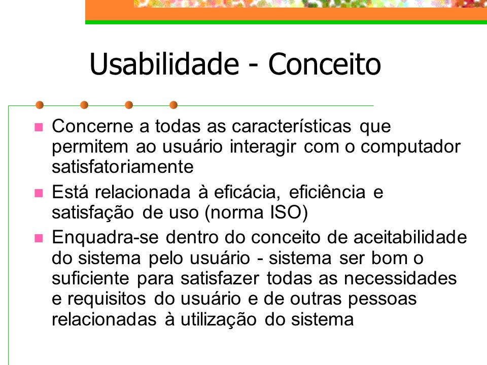 Usabilidade - Conceito