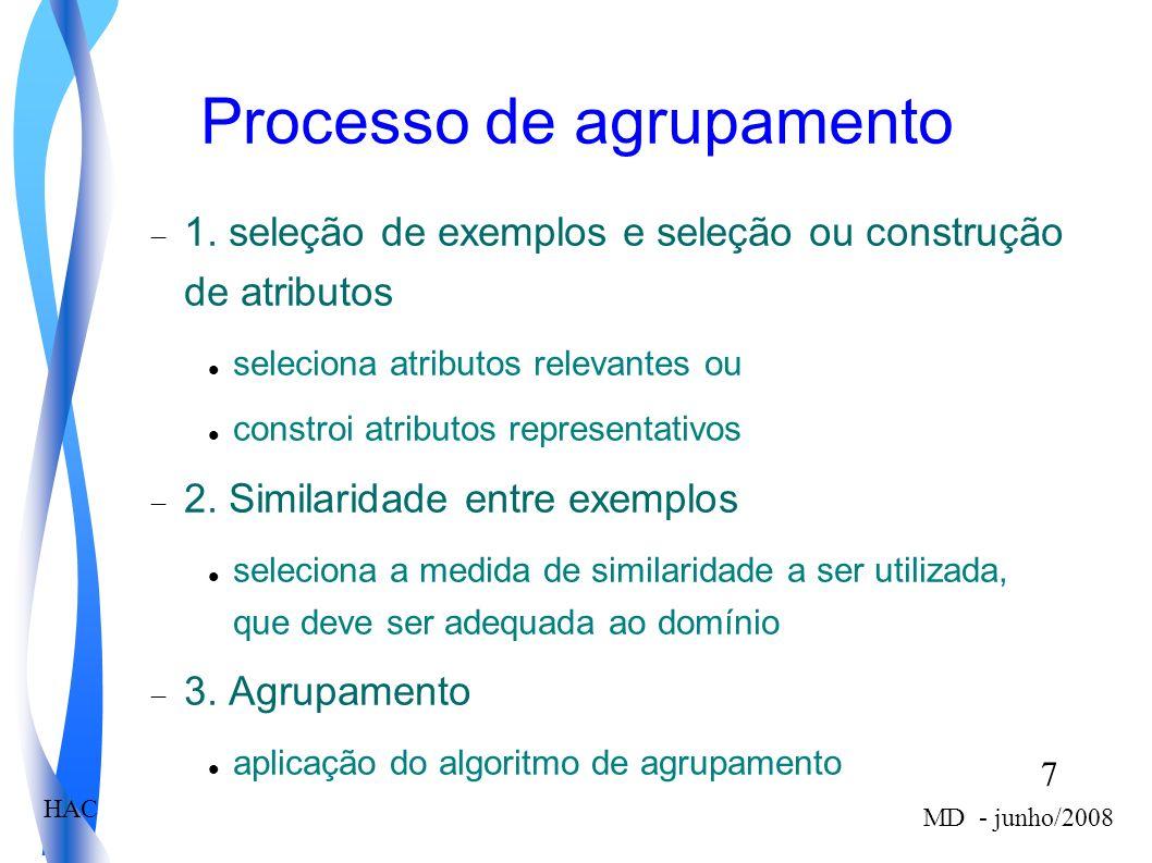 Processo de agrupamento