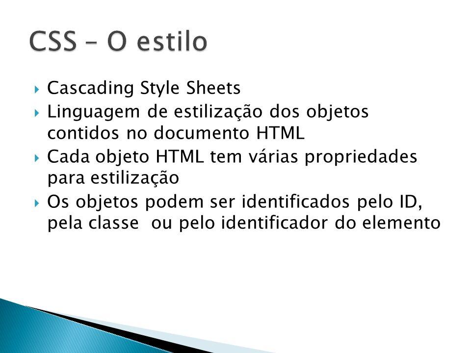 CSS – O estilo Cascading Style Sheets
