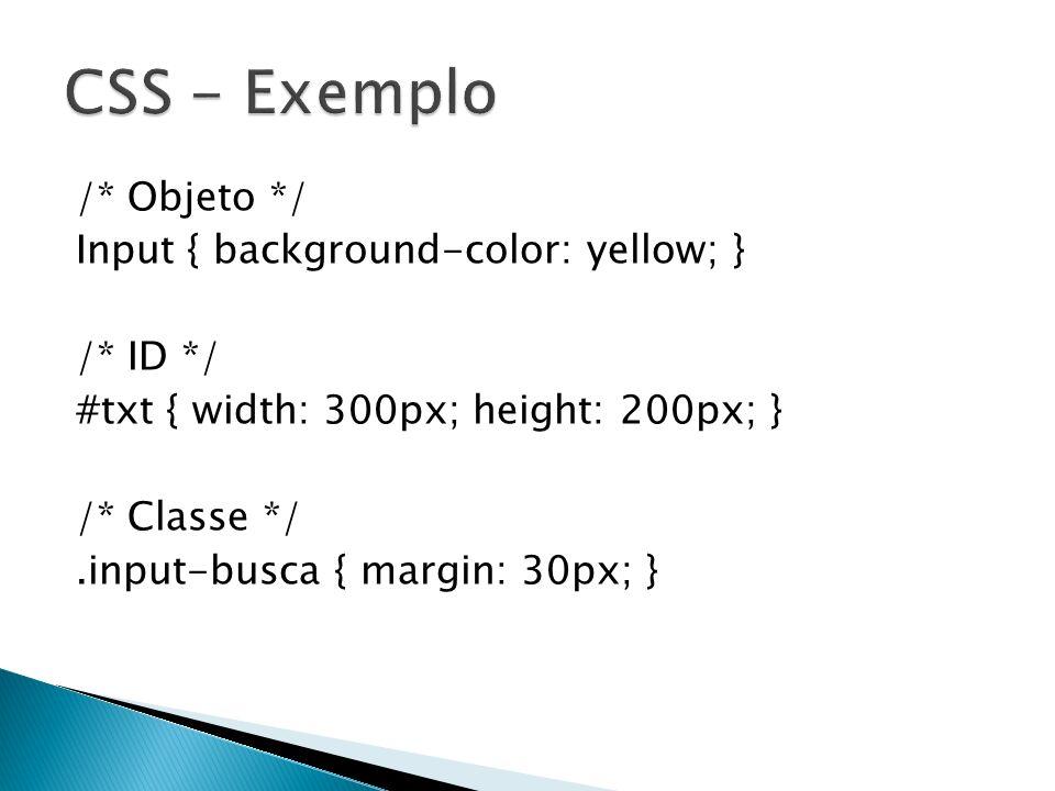 CSS - Exemplo
