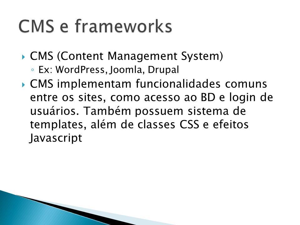 CMS e frameworks CMS (Content Management System)