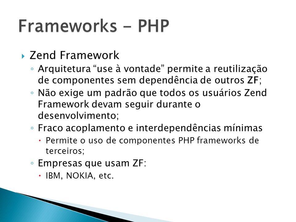 Frameworks - PHP Zend Framework