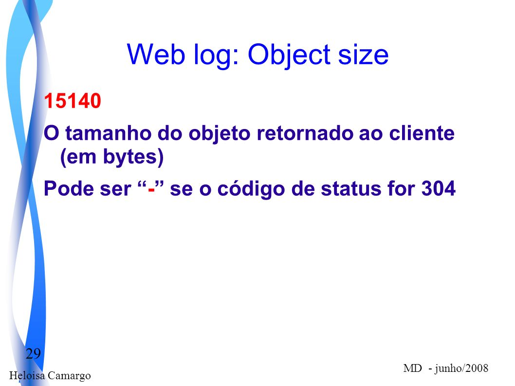 Web log: Object size 15140.