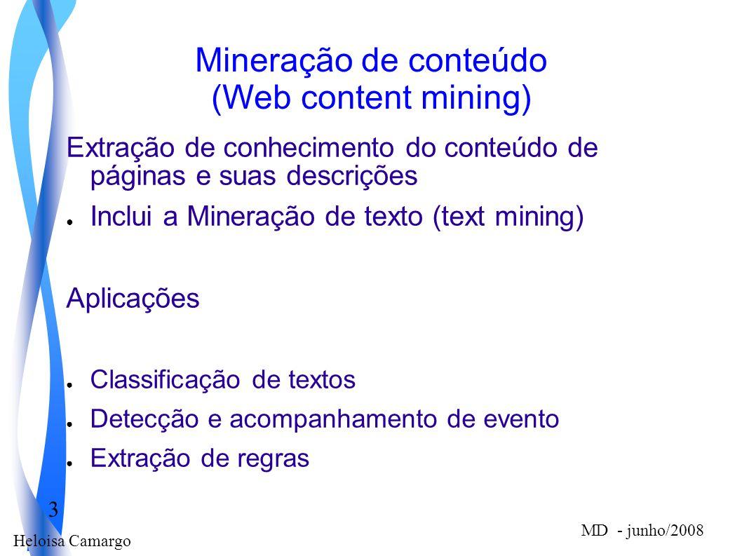 Mineração de conteúdo (Web content mining)