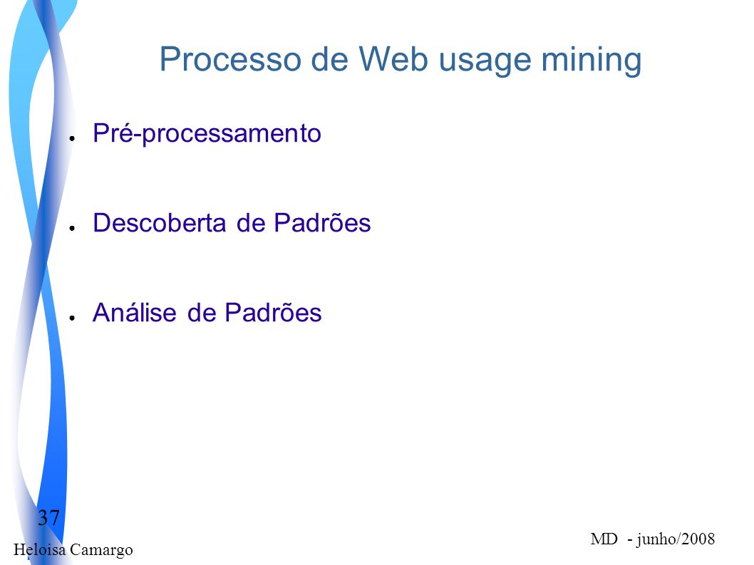 Processo de Web usage mining