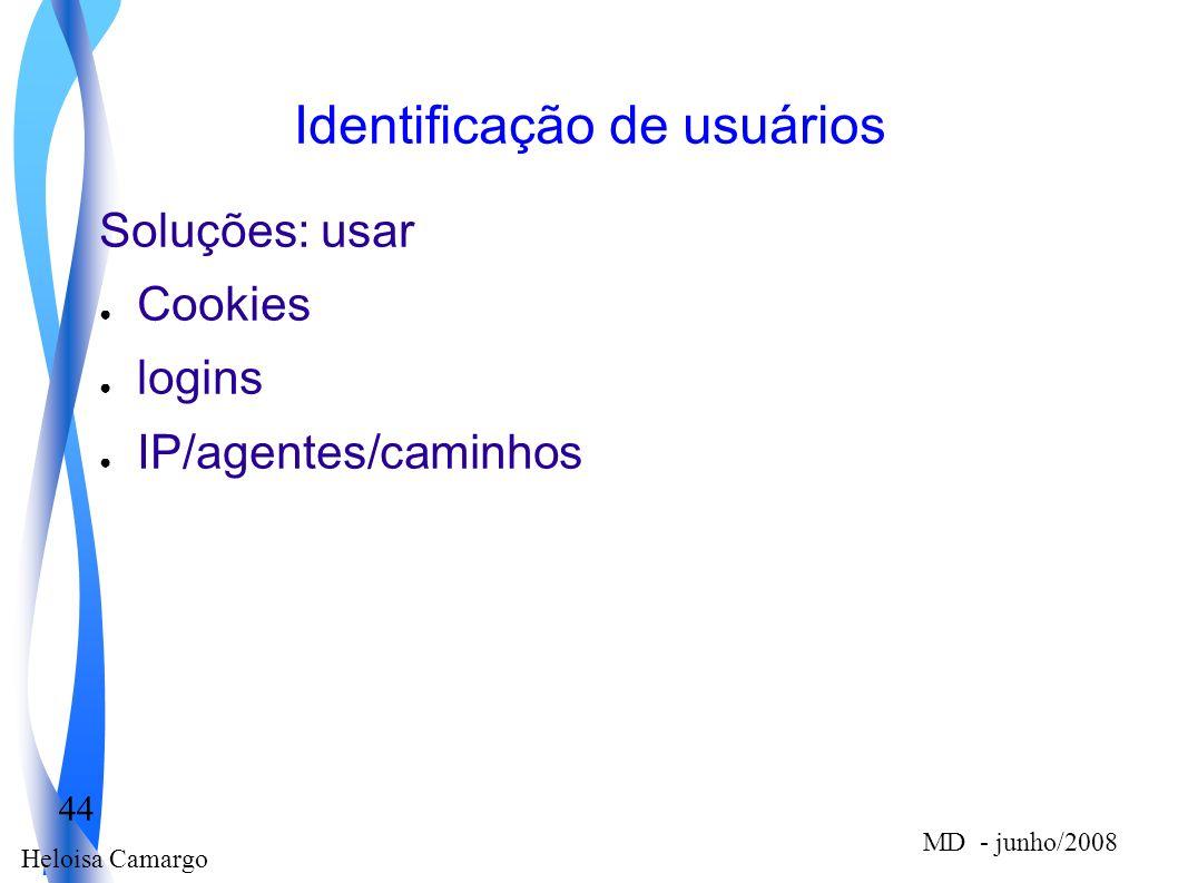 Identificação de usuários