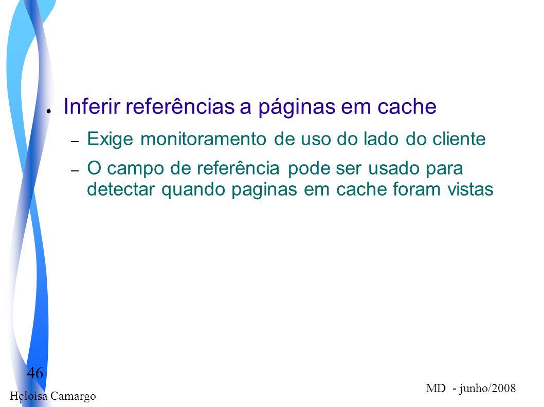 Inferir referências a páginas em cache