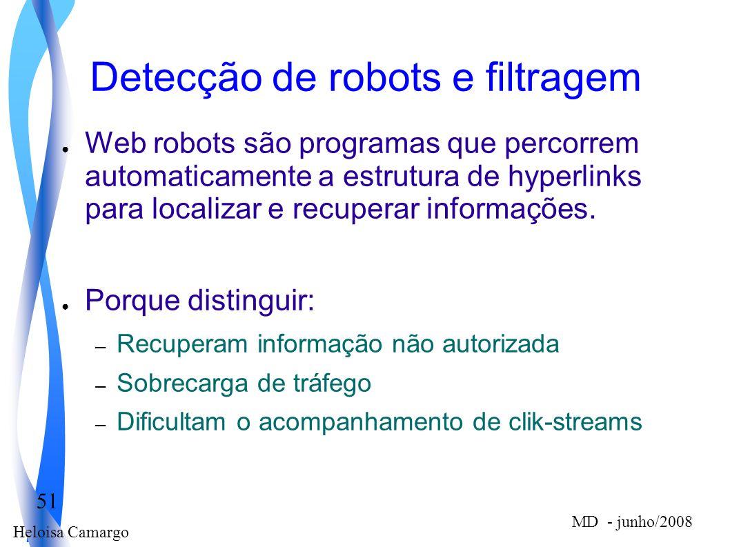 Detecção de robots e filtragem