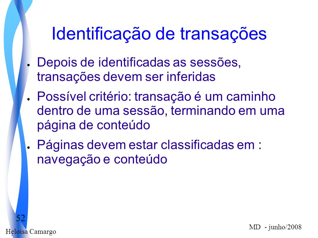 Identificação de transações