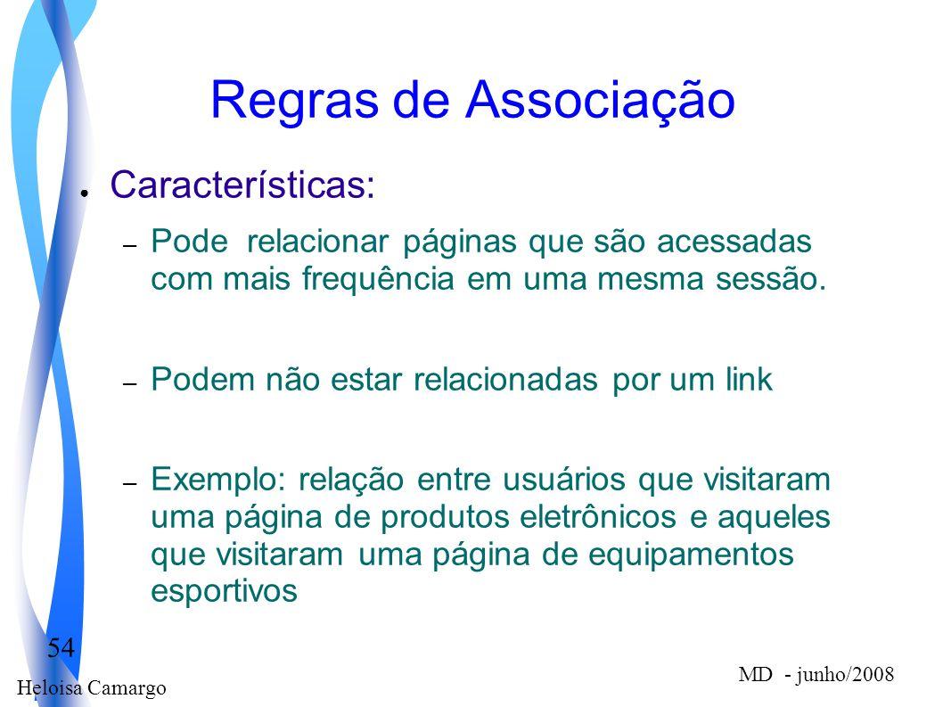 Regras de Associação Características: