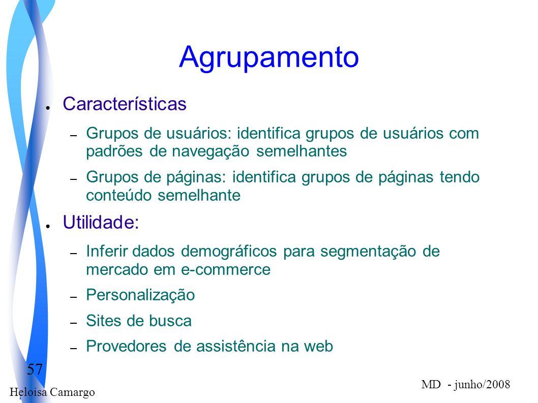 Agrupamento Características Utilidade: