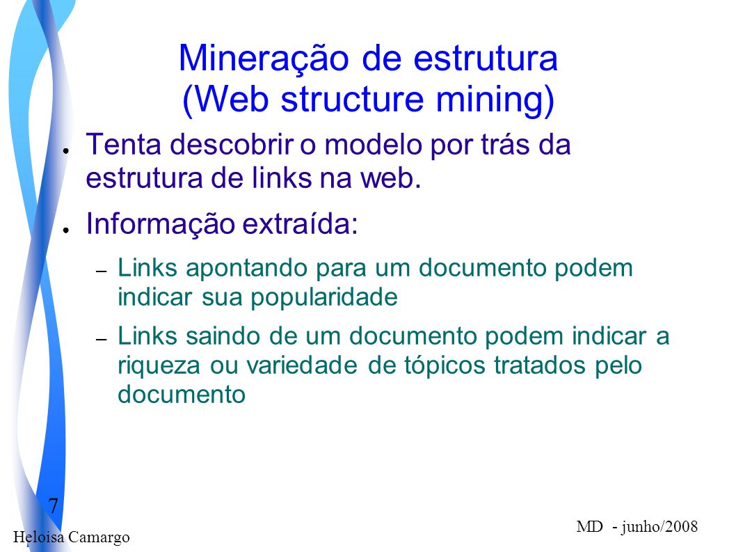 Mineração de estrutura (Web structure mining)