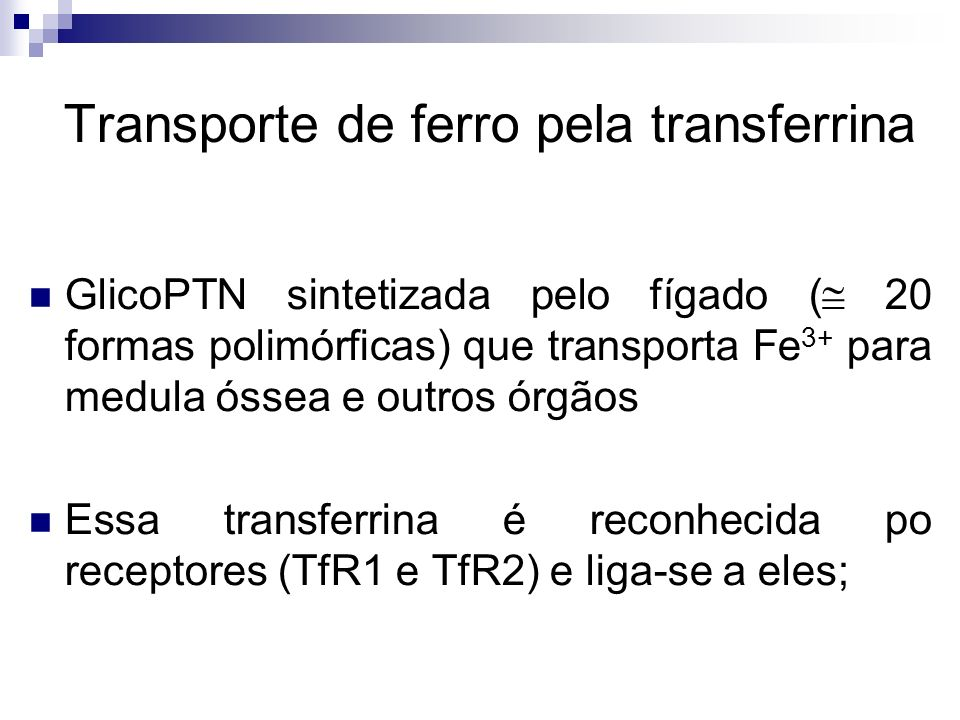 Transporte de ferro pela transferrina