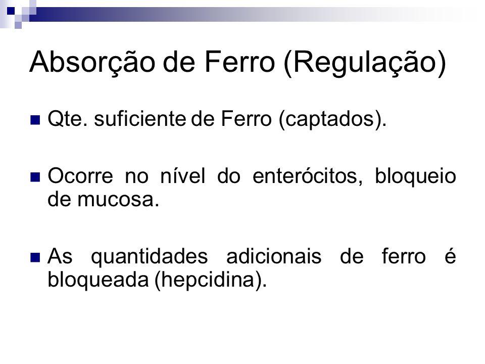 Absorção de Ferro (Regulação)