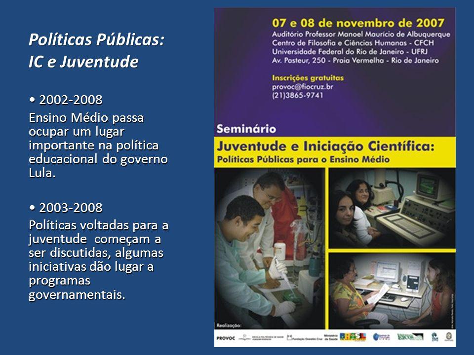 Políticas Públicas: IC e Juventude