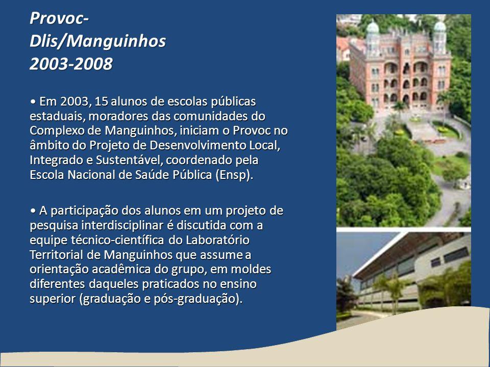 Provoc-Dlis/Manguinhos 2003-2008