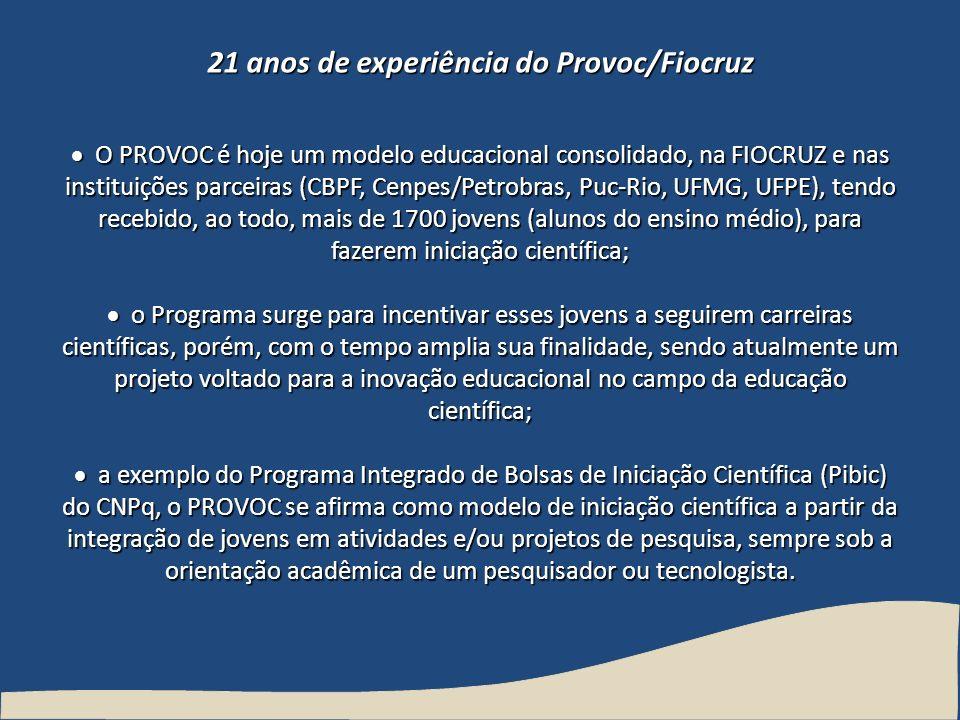 21 anos de experiência do Provoc/Fiocruz