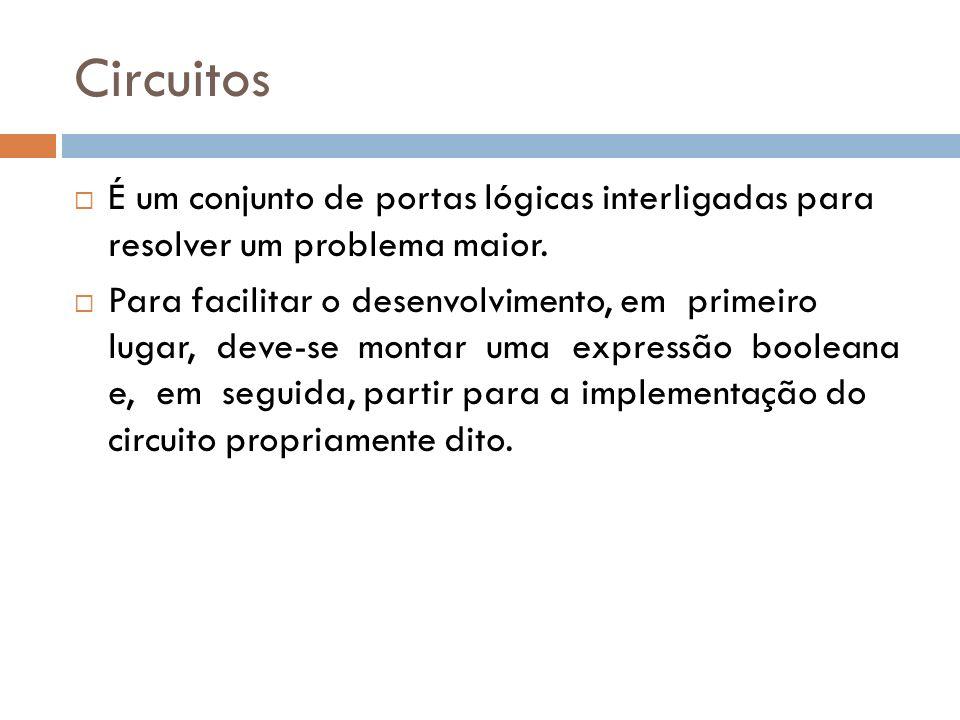 CircuitosÉ um conjunto de portas lógicas interligadas para resolver um problema maior.