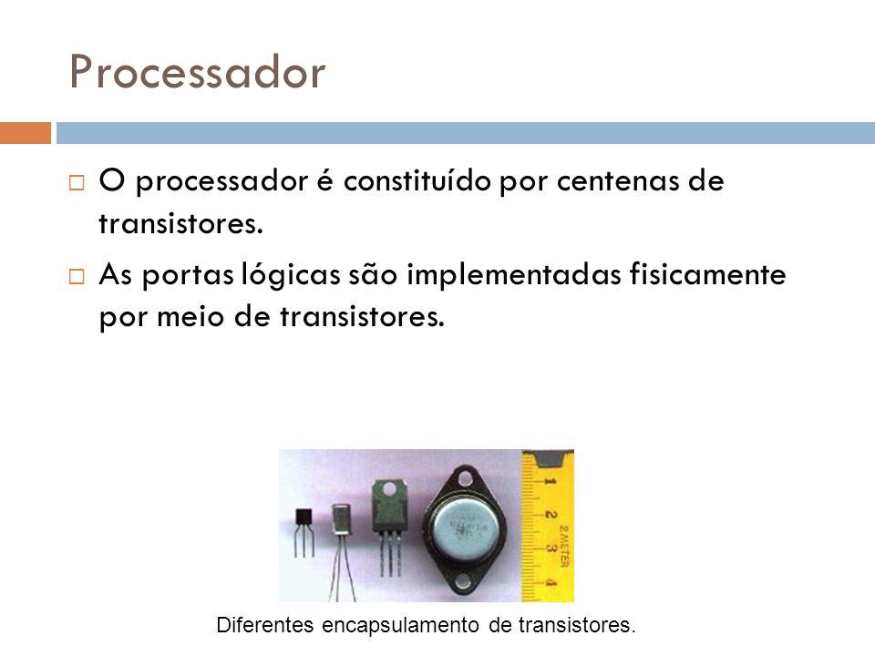 Processador O processador é constituído por centenas de transistores.