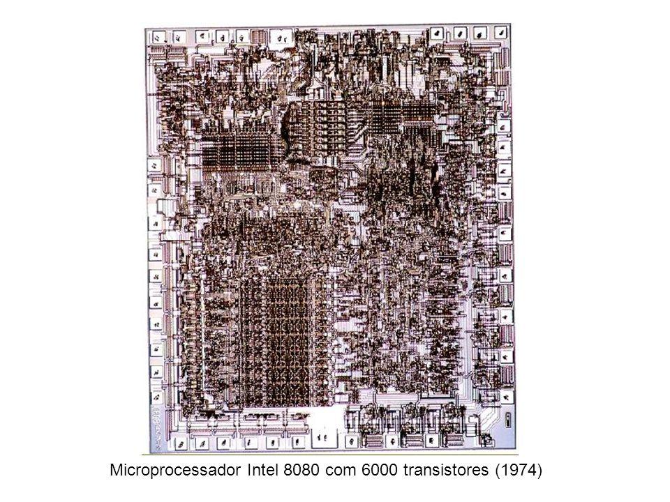 Microprocessador Intel 8080 com 6000 transistores (1974)
