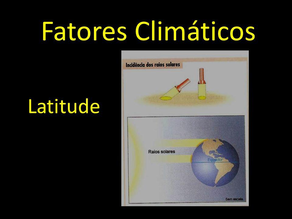Fatores Climáticos Latitude