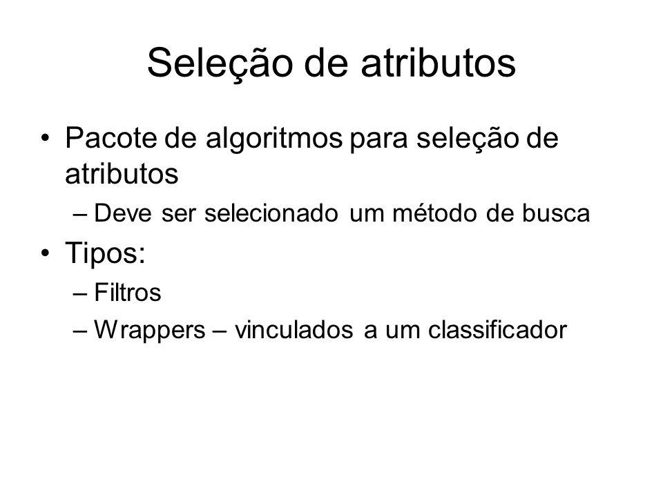 Seleção de atributos Pacote de algoritmos para seleção de atributos