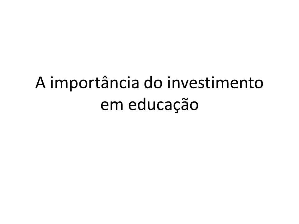 A importância do investimento em educação