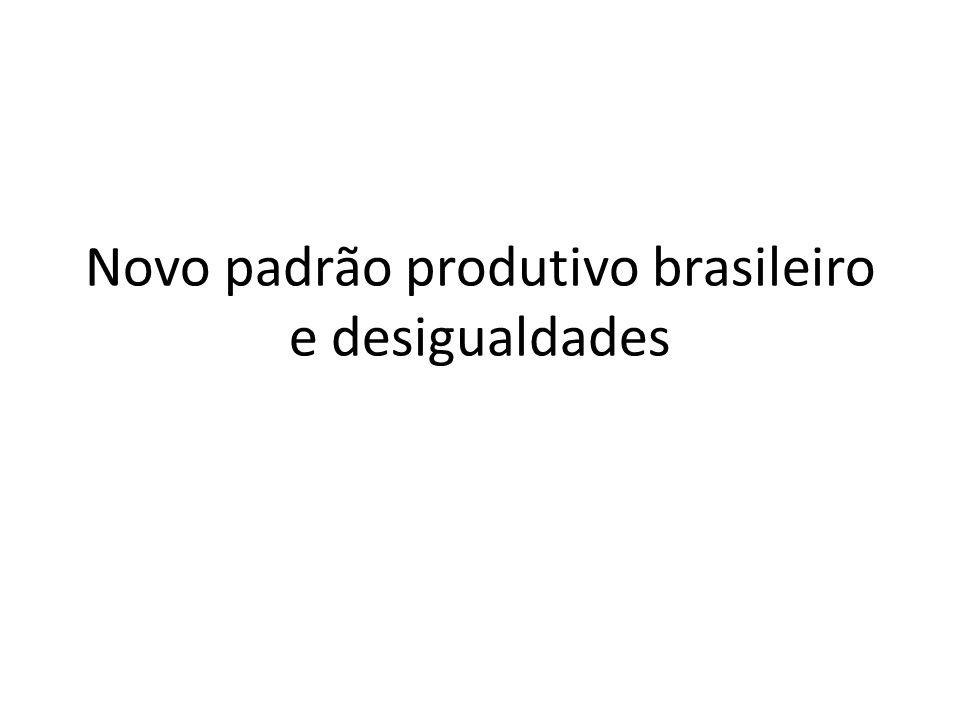 Novo padrão produtivo brasileiro e desigualdades