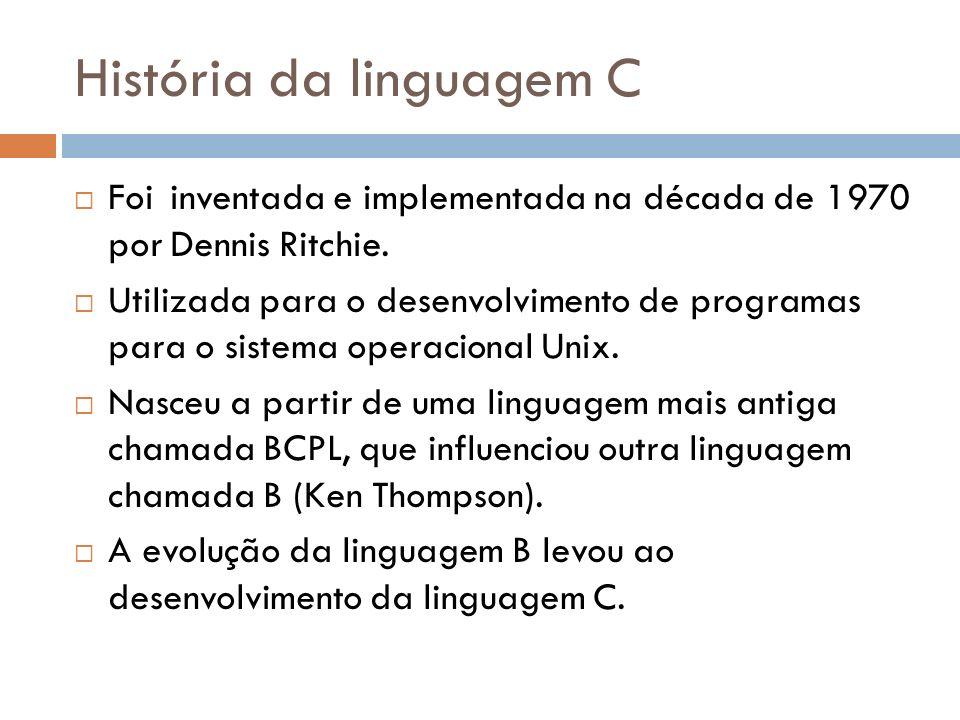 História da linguagem C