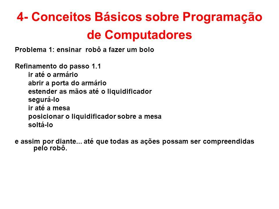 4- Conceitos Básicos sobre Programação de Computadores