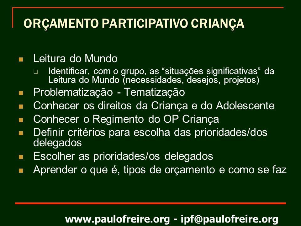 ORÇAMENTO PARTICIPATIVO CRIANÇA